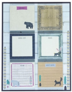 nordic nights sticky notes set from paperchase