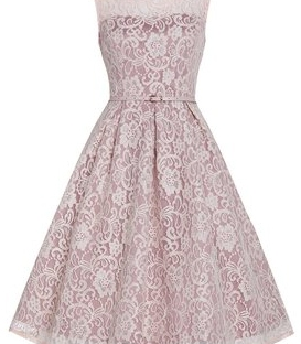 soft pink lace dress from little wings factory