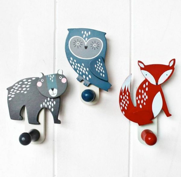 woodland animal coat hooks from not on the high st