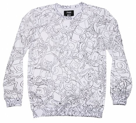 adventure time sweater from truffle shuffle