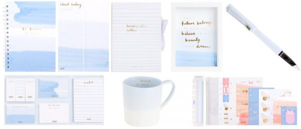 be brave stationery from kikki k_blue