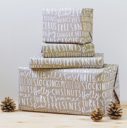 christmas wrapping paper from the old english company