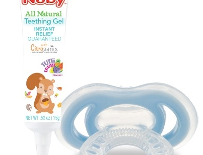 gum-eez and teething gel from nuby
