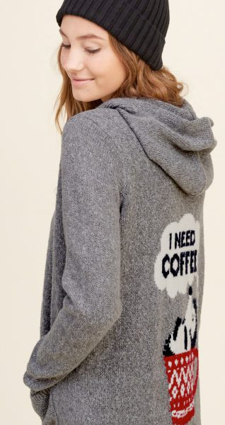 hooded open sweater from hollister
