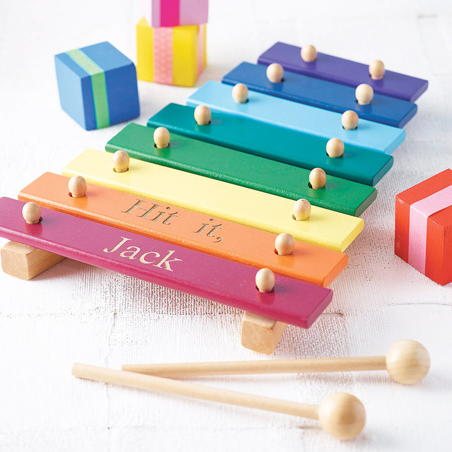 item of the day: personalised wooden xylophone from not on