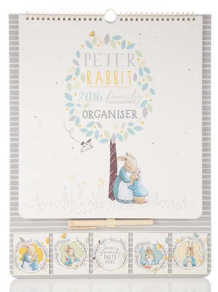 peter rabbit family organiser from marks and spencer