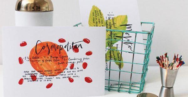 cocktail recipe cards by annie dornan-smith