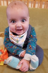 jenson sitting up seven months old