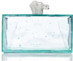 kate spade polar bear clutch