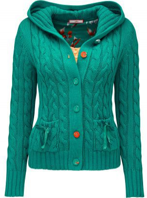 cable hooded cardigan from joe browns