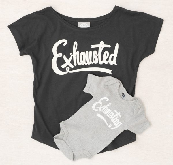 exhausted exhausting tshirt and bodysuit combo from not on the high street
