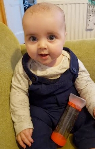 jenson eight months old_inhaler