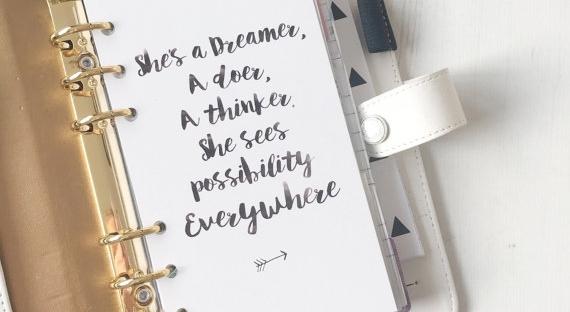 dreamer planner dashboard from etsy