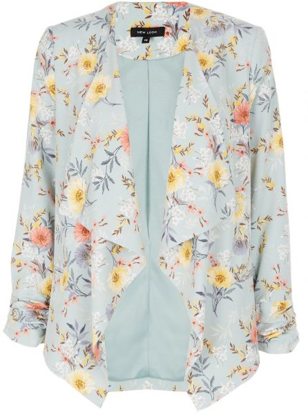 green floral blazer from new look