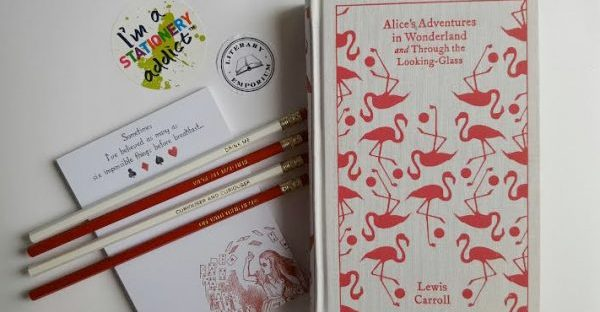 alice in wonderland stationery from literary emporium