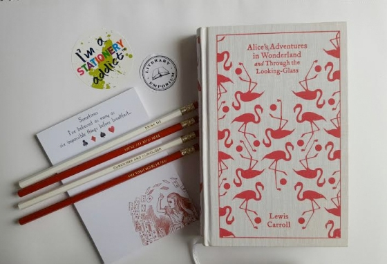alice in wonderland stationery from literary emporium