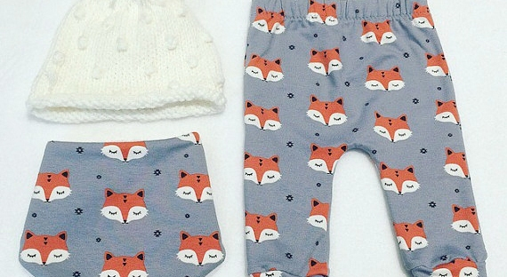 fox leggings from sew kuddly