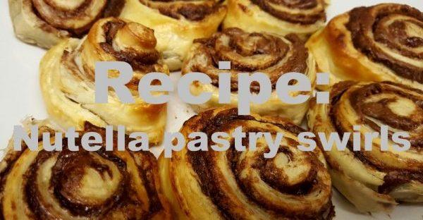 nutella pastry swirls