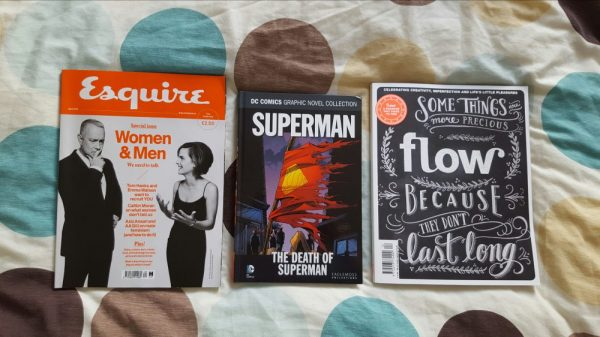 what I've been reading lately - Esquire, The Death of Superman and Flow