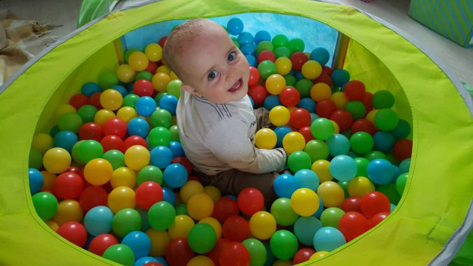 jenson ball pit one year
