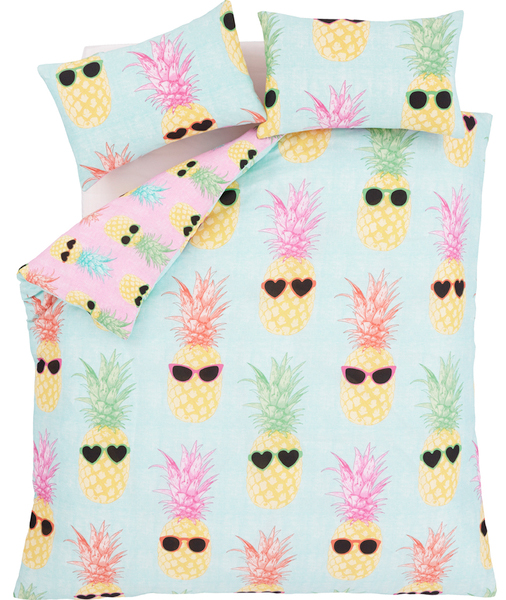 catherine lansfield pineapple bedding from iwoot