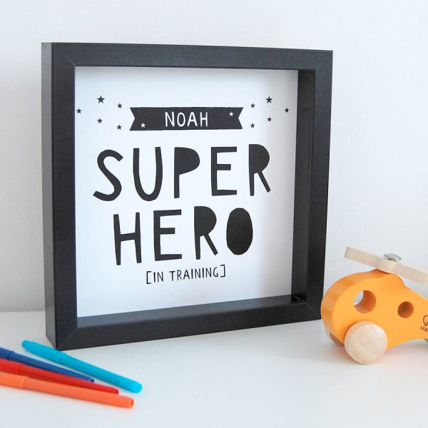 superhero print from not on the high street
