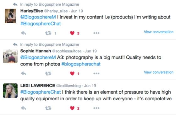 #BlogosphereChat