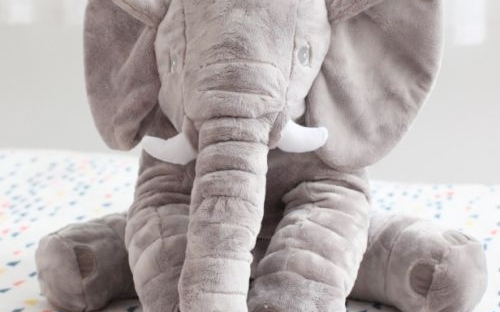elephant lumbar pillow from ebay