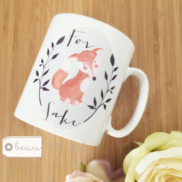 for fox sake mug from beau-ti-ful