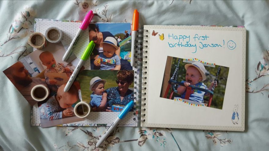 jensons birthday scrapbook