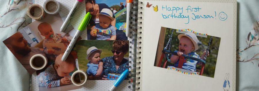 jensons birthday scrapbook