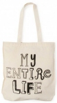 my entire life cotton shopper bag from paperchase