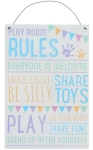 playroom rules sign from mandco