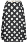 polka dot midi skirt from yumi