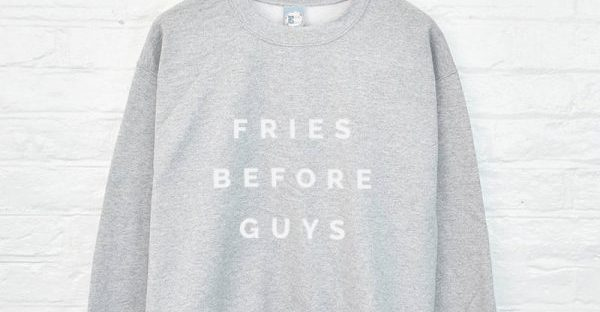 fries before guys sweatshirt from not on the high street