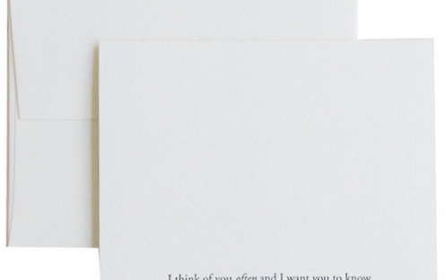 i think of you often card from quill london
