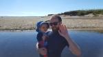 jenson and luke on the beach