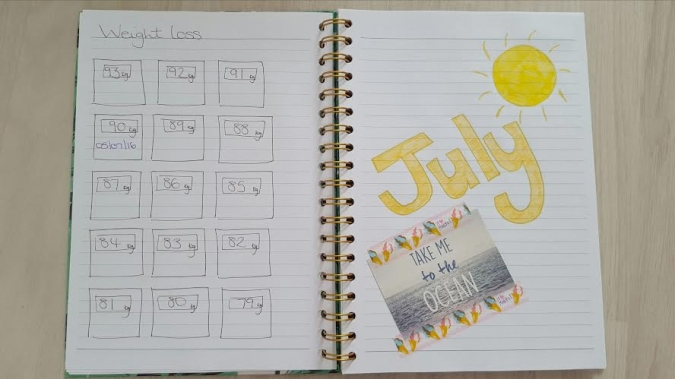 my bullet journal july