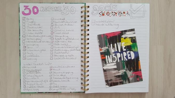 my bullet journal - goals