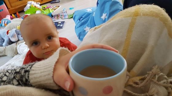 sunday snapshot coffee and baby