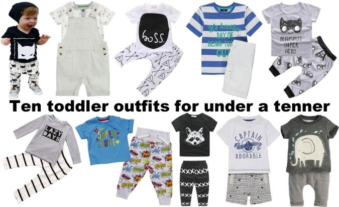 ten toddler outfits under ten pounds