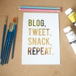 blog tweet snack repeat print from that lame company