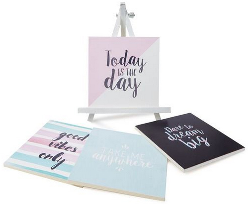 inspirational easel set from typo