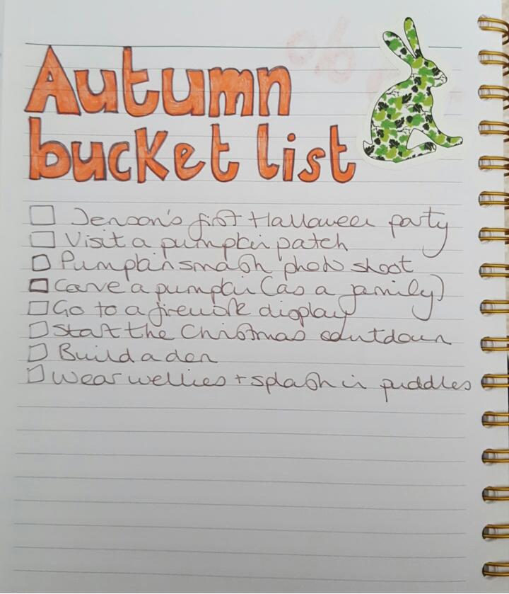 bullet journal_autumn bucket list 2016