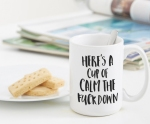calm down mug from etsy
