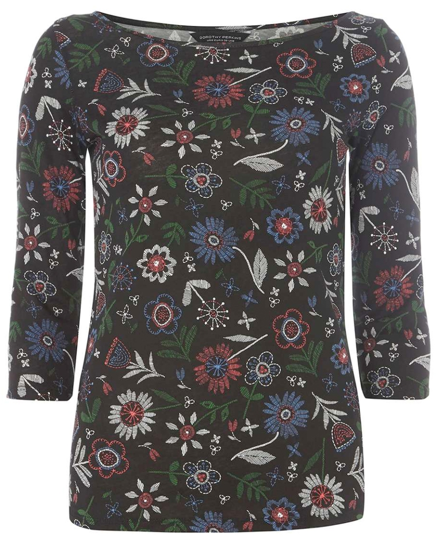 floral long-sleeved tee from dorothy perkins