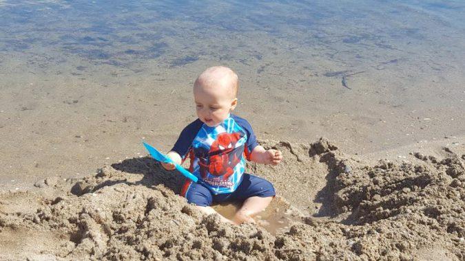 jenson at the beach