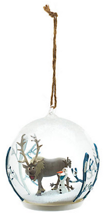 olaf bauble from the disney store