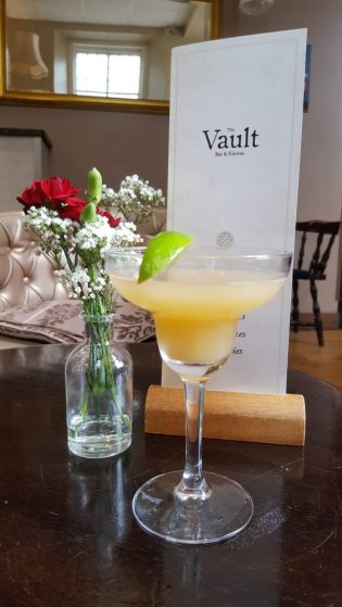 peach margarita at the vault