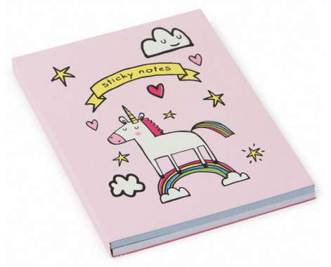 unicorn sticky notes book from paperchase